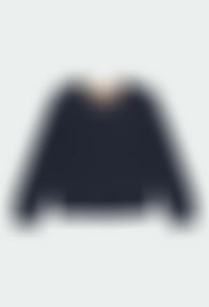 Jersey tricotosa con coderas de niño