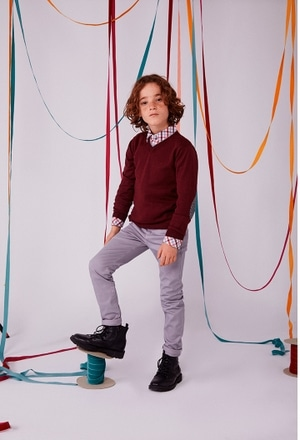 Jersey tricotosa con coderas de niño_1