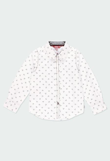 Camisa oxford manga comprida para menino_1