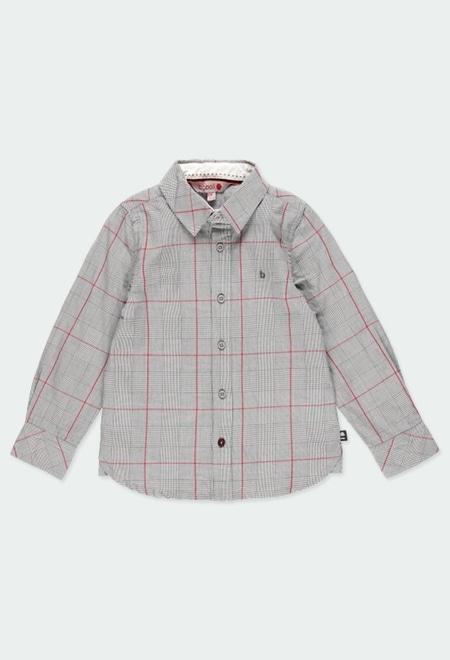 Camisa manga comprida quadros para menino_1