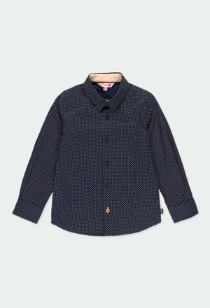 Camisa popelín con coderas de niño_1