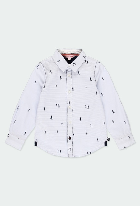 Poplin shirt striped for boy_1