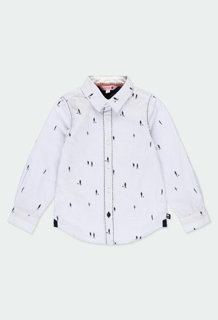 Chemise en popeline à rayures pour garçon_1