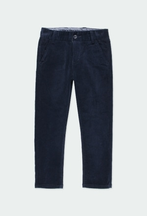 Microcorduroy trousers stretch for boy_1