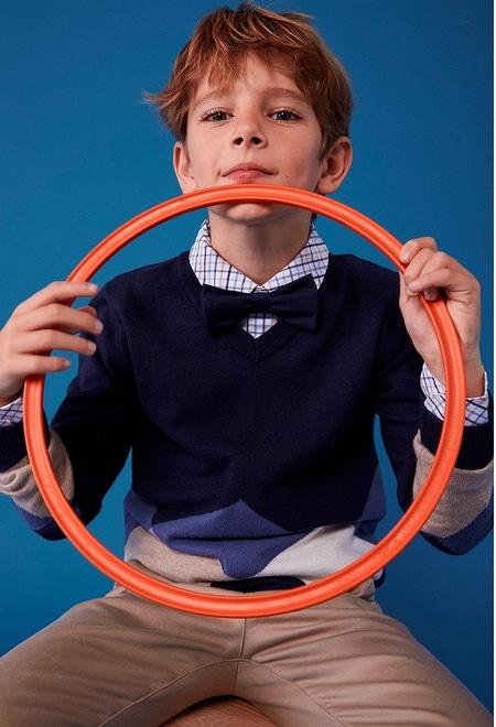 Knitwear pullover diamonds for boy_1