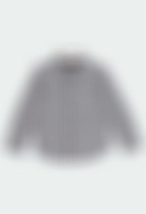 Poplin shirt check for boy