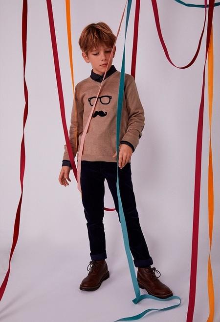 "Pullover tricot ""óculos"" para menino_1"