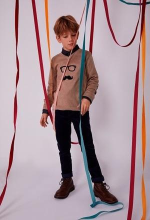 "Jersey tricotosa ""gafas"" de niño_1"
