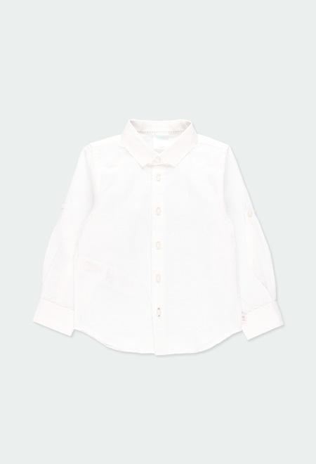 Camisa lino manga larga de niño_1