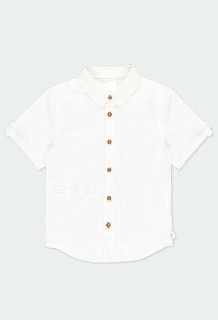 Hemd leinen kurze ärmel für junge_1