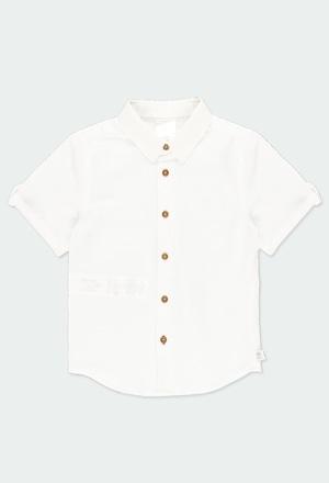 Camisa linho manga curta para menino_1