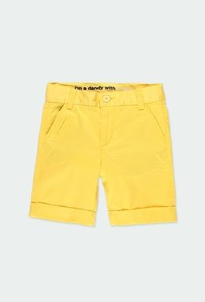 Satin bermuda shorts stretch for boy_1