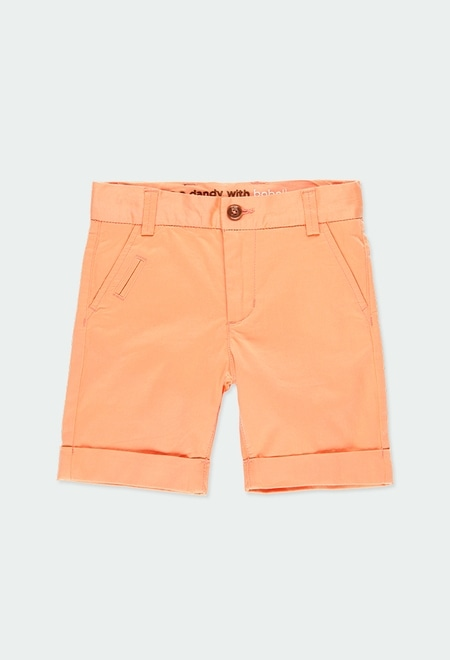 Satin bermuda shorts stretch for boy_1