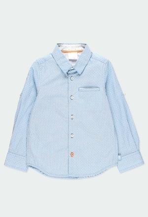 Camicia popelin fantasia per ragazzo_1