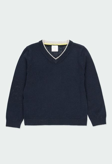 Strick pullover mit hecktau für junge_1