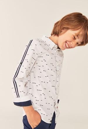 Camisa oxford manga comprida carro para menino_1