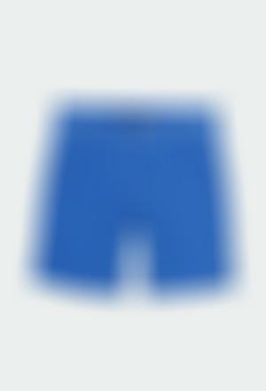 Satin bermuda shorts stretch for boy