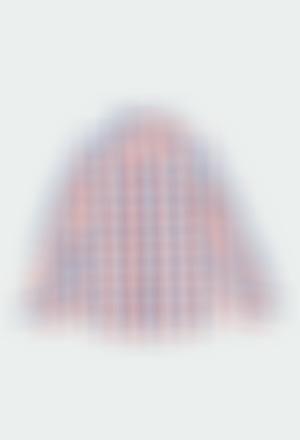 Chemise en popeline a carreaux pour garçon
