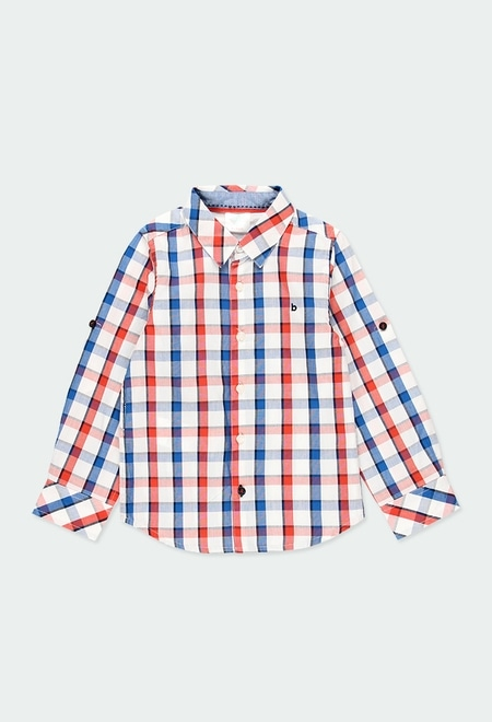 Camisa poplin quadros para menino_1