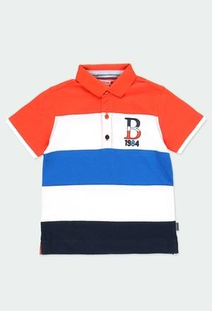 Pique polo with stripes for boy_1