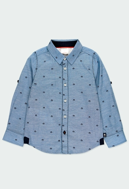 Camisa manga larga fil a fil de niño_1
