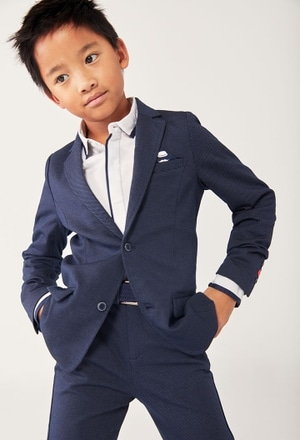 Knit blazer fantasy for boy_1