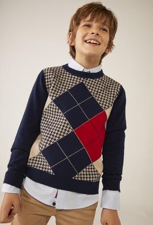 Maglione maglieria rombo per ragazzo_1