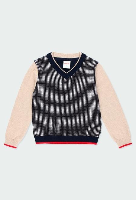 Jersey tricotosa cuello pico de niño_1