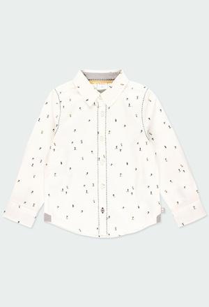 Poplin shirt printed for boy_1