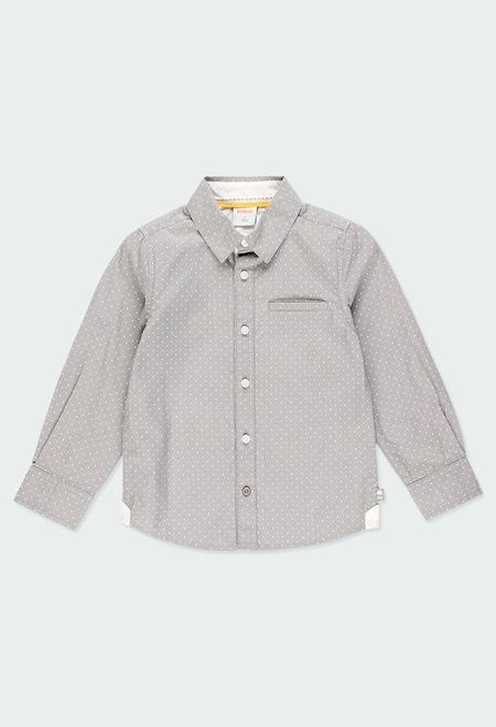 Camisa poplin bolinhas para menino_1