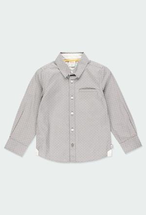 Camisa popelín topitos de niño_1
