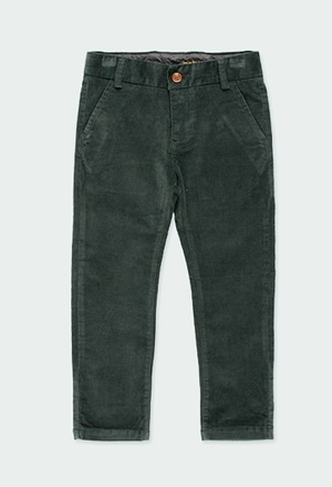 Pantalon en velours côtele élastique pour garçon_1