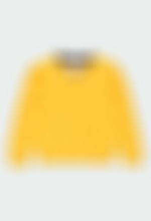 Jersey tricotosa cuello pico de niño