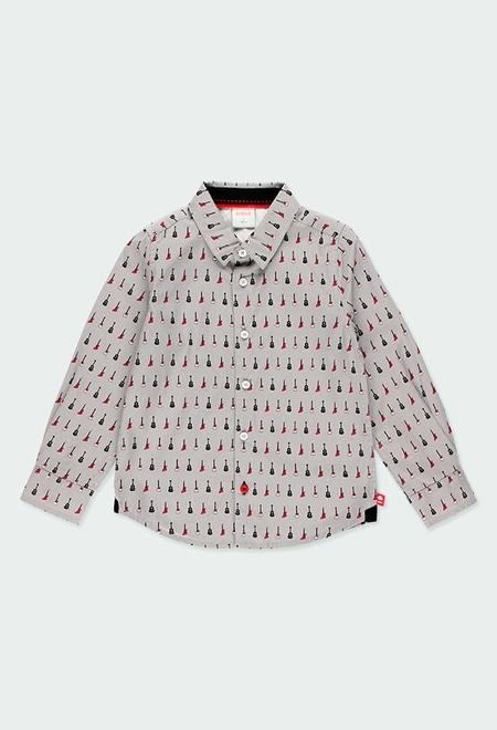 Camisa popelín estampada de niño_1