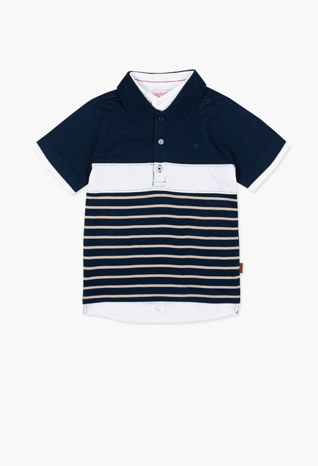 Pique combined polo for boy_1