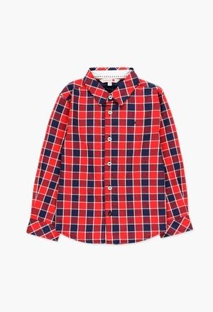 Camisa popelín cuadros de niño_1