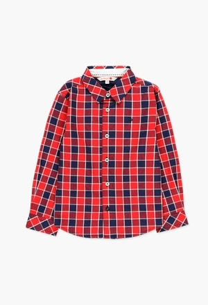 Hemd popelin kariert für junge_1