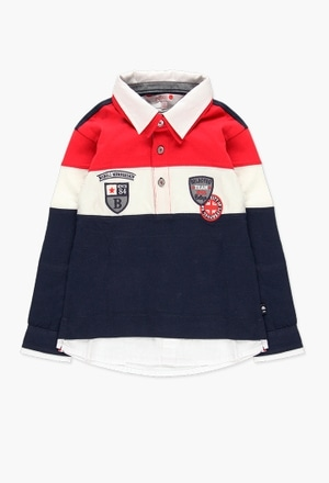 Knit combined polo for boy_1