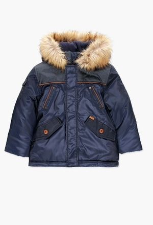 Technical fabric parka for boy_1