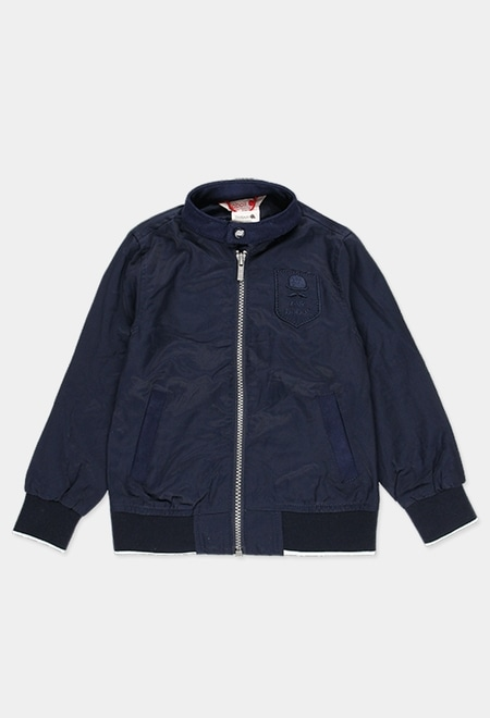 Technical fabric bomber jacket for boy_1