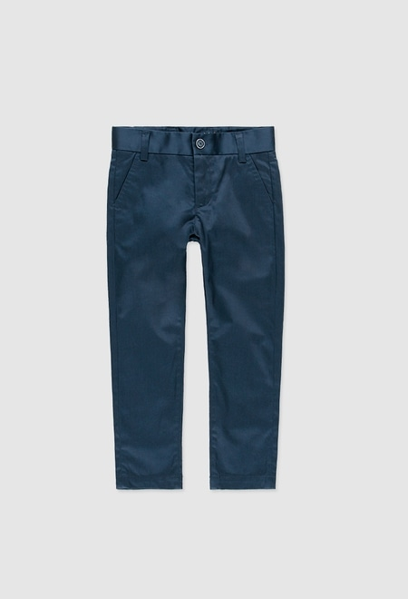 Stretch satin trousers for boy_1