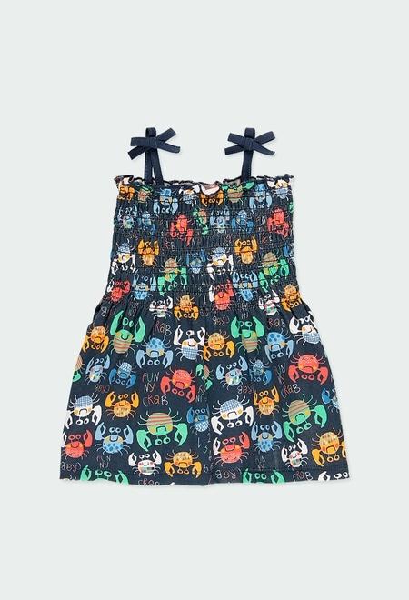 """Vestido punto """"cangrejos"""" de bebé niña_1"""