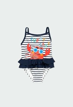 Badeanzug gestreift für baby mädchen_1