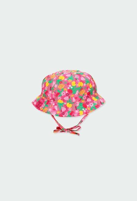 Bonnet polyamide pour bébé fille_1