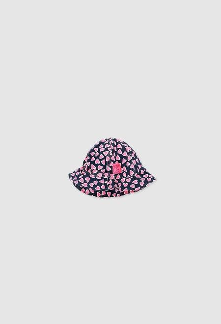 Bonnet tricot élastique pour bébé fille_1
