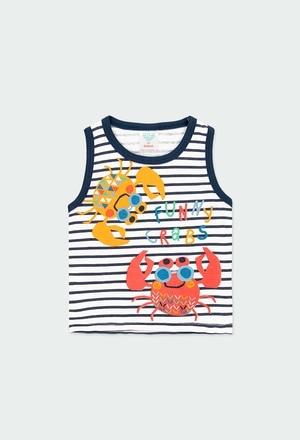 Camiseta punto listado de bebé niño_1