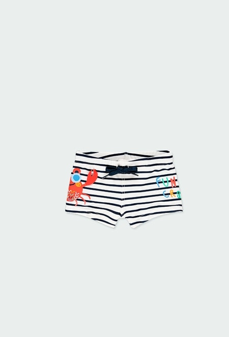 Bond swimsuit striped for baby boy_1