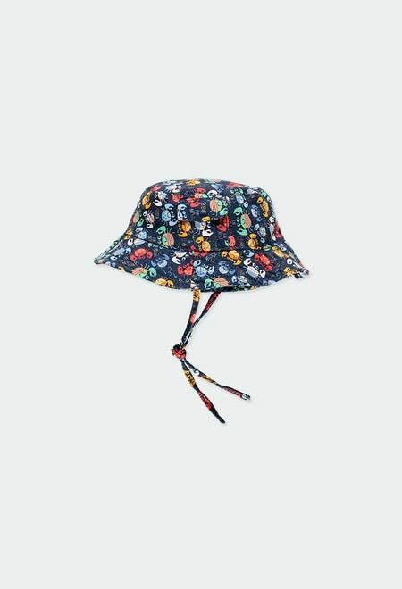 Poplin hat for baby boy_1