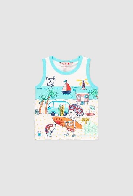 T-Shirt glatt gestrickt für baby junge_1