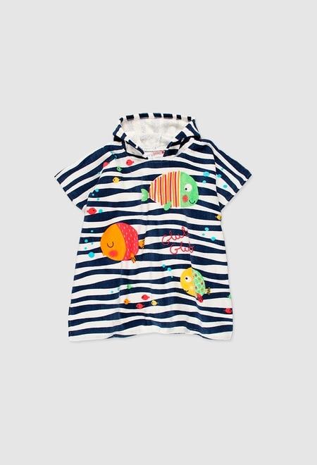Drap de plage à capuche pour bébé_1